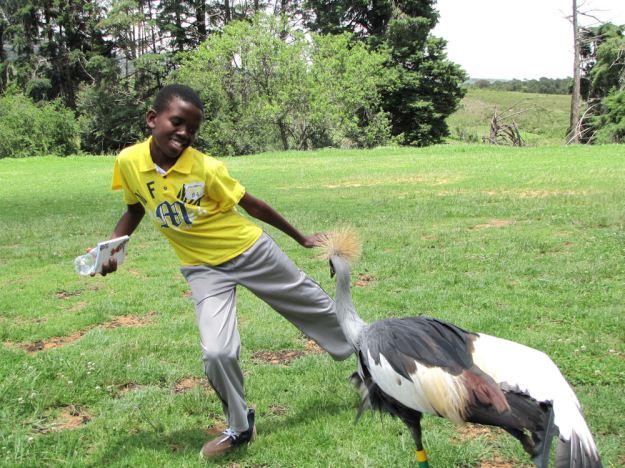Mzwandile dances with Boston