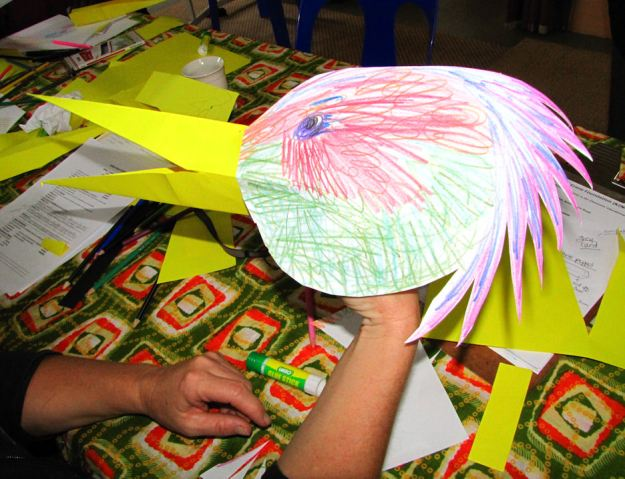 cranes in the classroom Crane Puppet res.