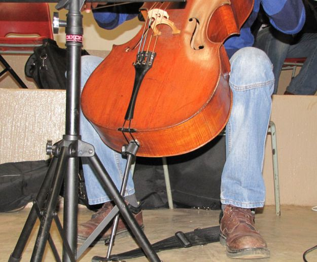 Double Bass at concert at curry's post res.