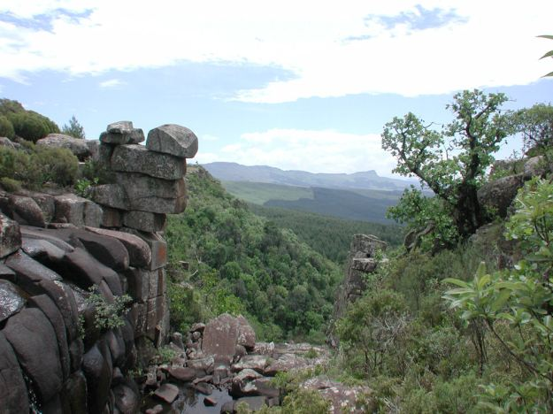 View of Inhlosane from waterfall -Barry Downard.RES