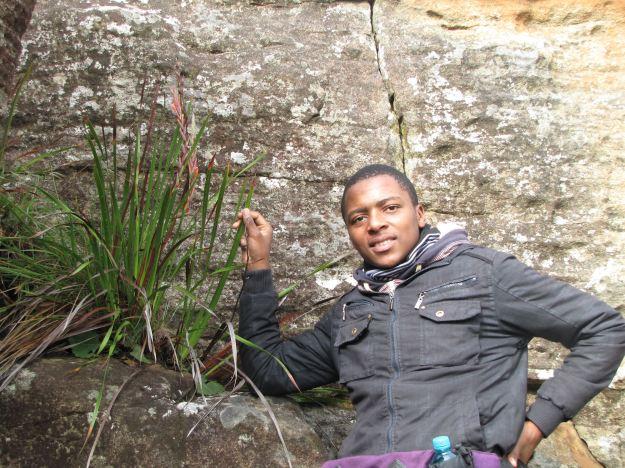 Lungisani discovers a Watsonia R