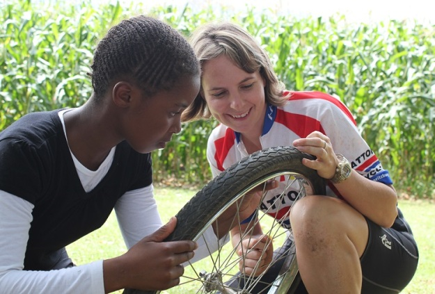 Julia enjoys teaching learners about bicycles