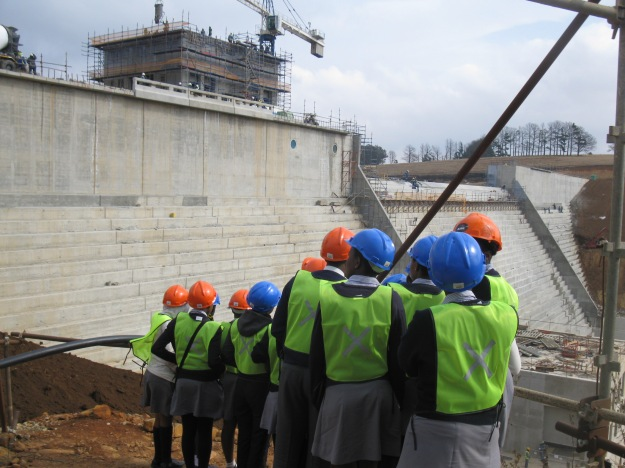 Group with spillway