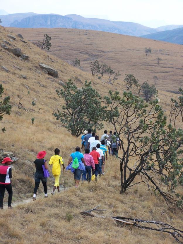 Corrie Lynn hike in Kamberg