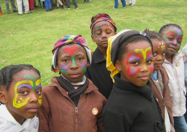 Mpop Kidz Club face paint at Umgeni Valley