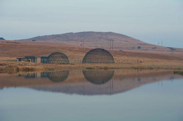 r Crane Domes reflection