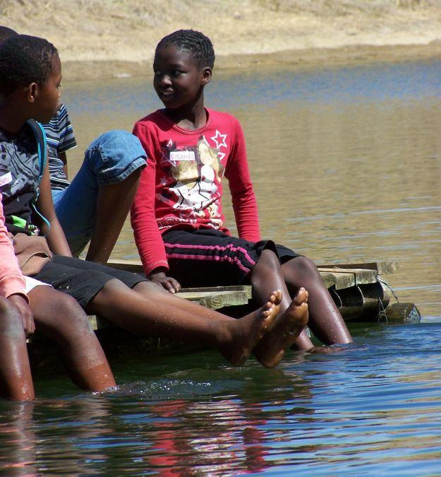 r Dargle kids on raft