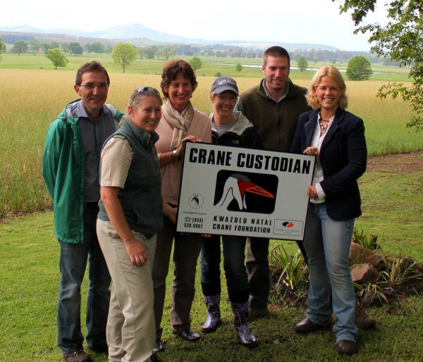 Many farmers in the Karkloof are recognised as Crane Custodians.