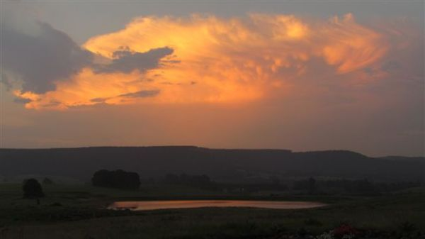 Beautiful sunset evening.