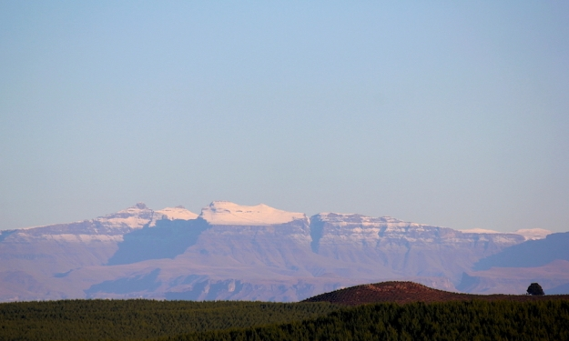 Snow on the Drakensberg