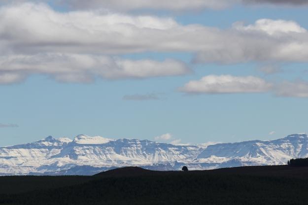 Snow on the berg, Sani Pass