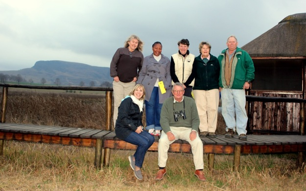 Front: Andy Visser (N3TC) and Roy Tabernor (Lion's Bush). Back: Karen McGregor (Curry's Post), Thandiwe Rakale (N3TC), Yvonne Thompson (Balgowan), Eve Hughes (Beacon Hill) and Charlie MacGillivray (Karkloof)