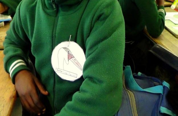 Sisanda Ntombela wearing her wattled crane name tag